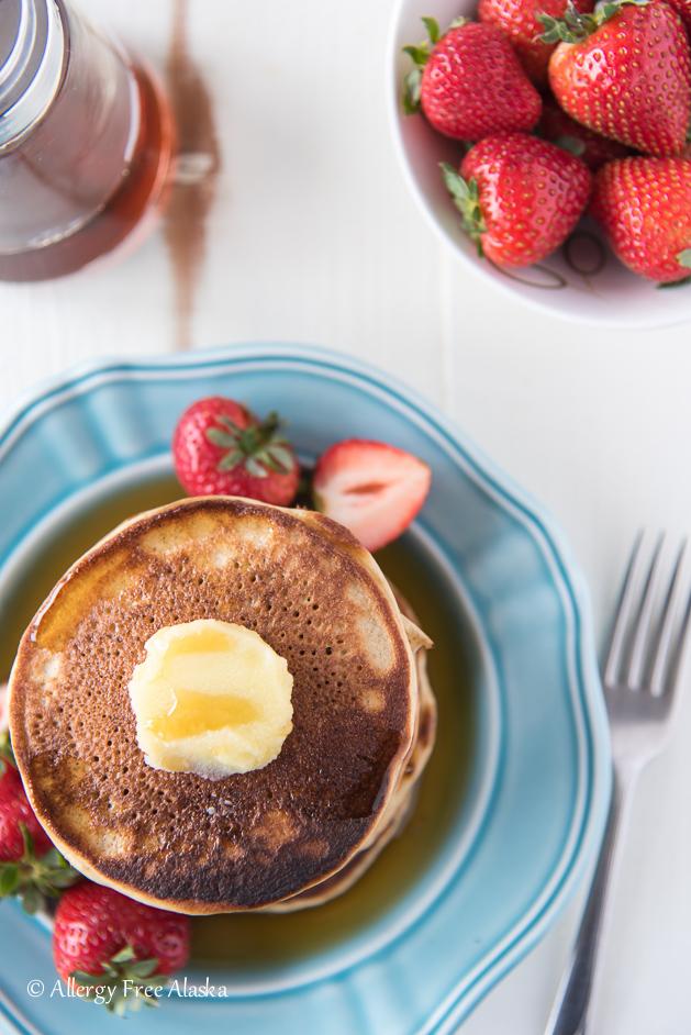 overhead shot gluten free pancakes