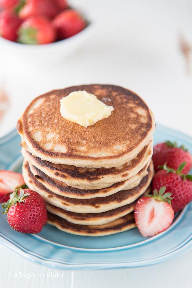 gluten free pancake stack
