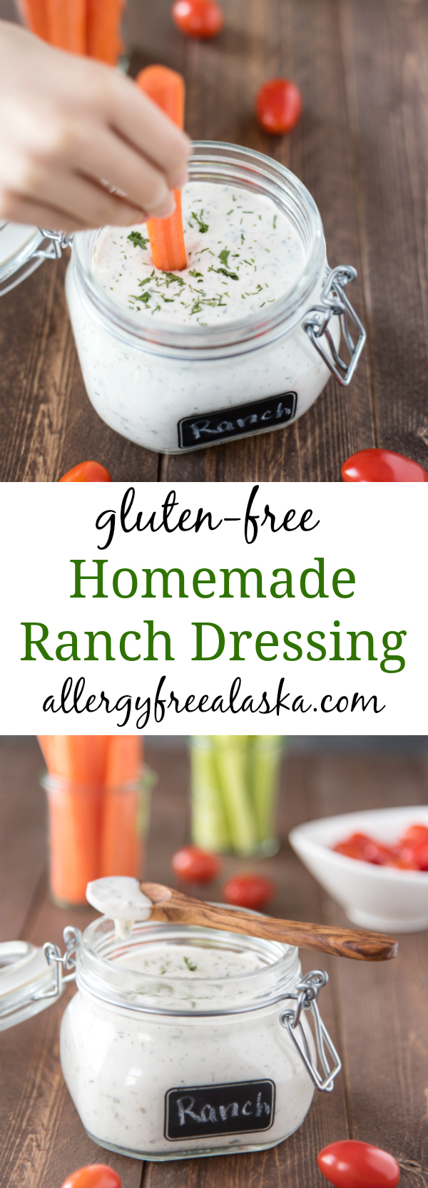 homemade ranch dressing pinterest collage