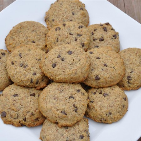 Stevia Sweetened Chocolate Chip Cookies… grain & gum free