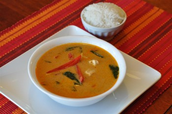 Thai Panang Curry Chicken Soup