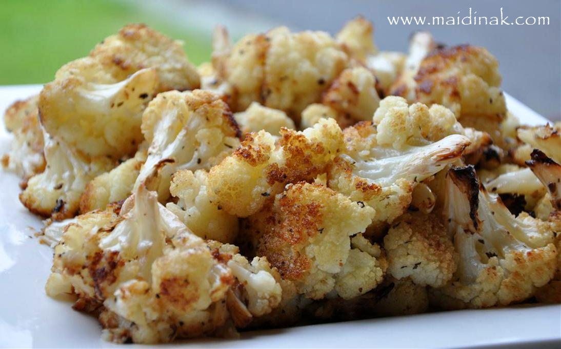 am so addicted to roasted cauliflower. I really could sit down and ...