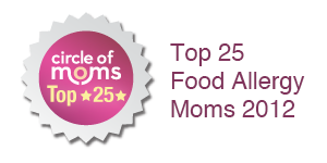 I am in Circle of Moms Top 25 Food Allergy Moms - 2012!