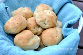 Gluten & Dairy Free Dinner Rolls (Plain, Garlic & Rosemary, or Onion)