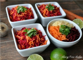 Raw Beet, Carrot & Apple Salad with Ginger Lime Dressing