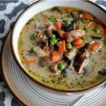 Creamy Chicken & Mushroom Soup (dairy free & Paleo)