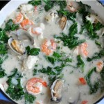 White Cioppino with Kale (Seafood Stew)