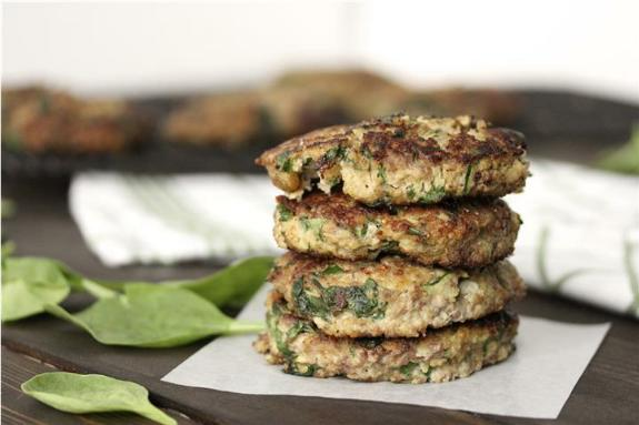 Ground Beef Millet and Veggie Fritters