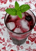 Cherry Vanilla Italian Soda (No sugar added)
