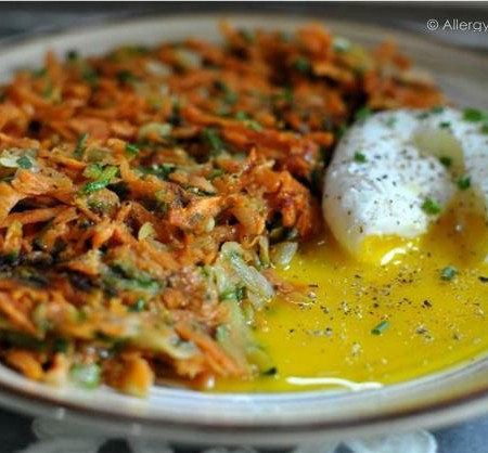 Zucchini & Sweet Potato Hash Browns