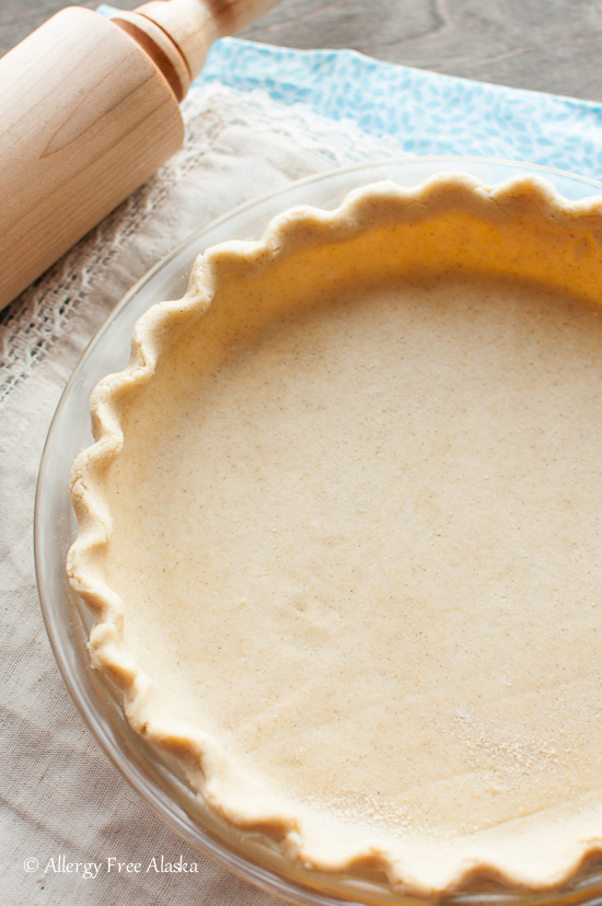 Best Gluten Free Vegan Flaky Pie Crust recipe from Allergy Free Alaska. This crust is amazing!