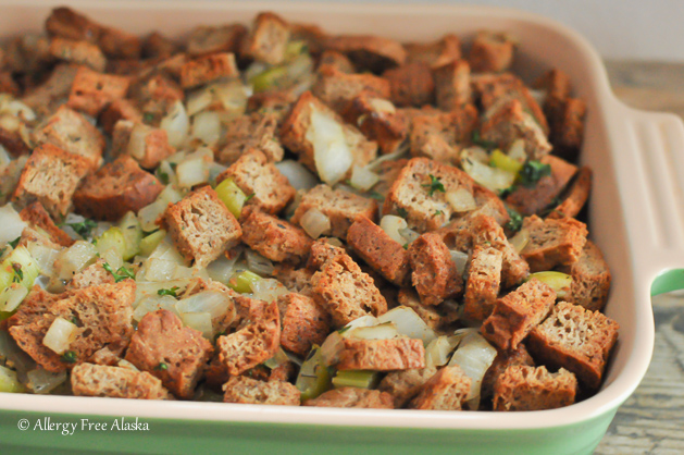 Traditional stuffing with parsley sage thyme for Alaskan cuisine traditional
