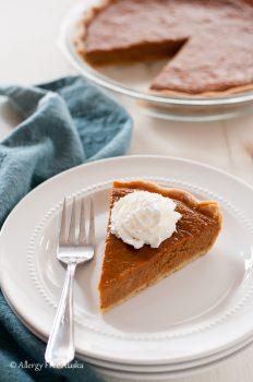 Gluten Free Dairy Free Maple Pumpkin Pie