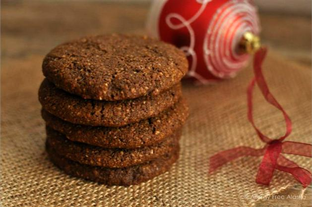Big & Soft Paleo Ginger Molasses Cookies