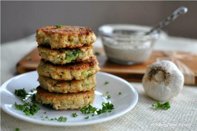 Tuna & Broccoli Quinoa Patties with Lemon Caper Sauce