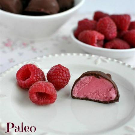 Chocolate Covered Raspberry Ice Cream Bon Bons