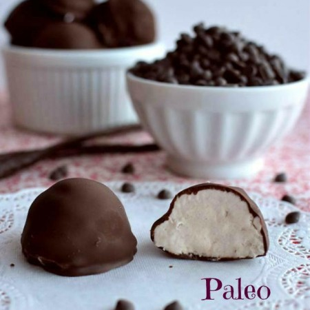 Chocolate Covered Vanilla Ice Cream Bon Bons