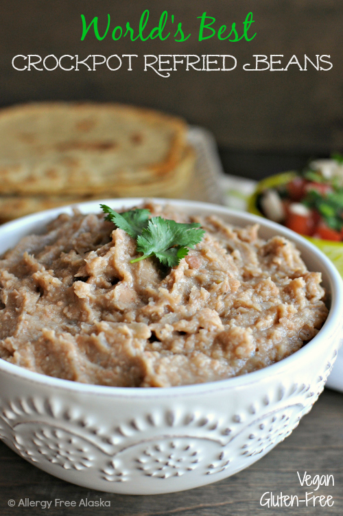 Crockpot Refried Beans by Allergy Free Alaska