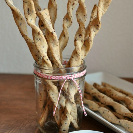 Grain Free & Vegan Twisty Flax Sticks