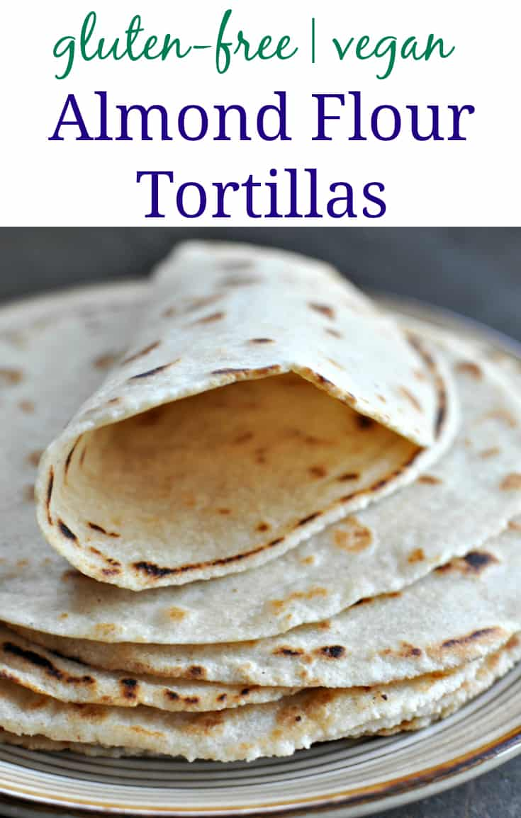 almond flour tortillas pinterest pin with text,