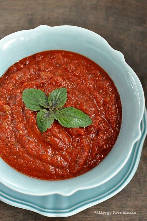 Simple Homemade Pizza Sauce Recipe - Allergy Free Alaska