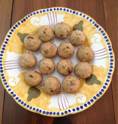 mini muffin chocolate banana muffins