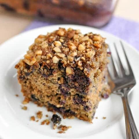 Gluten Free Blueberry Coffee Cake