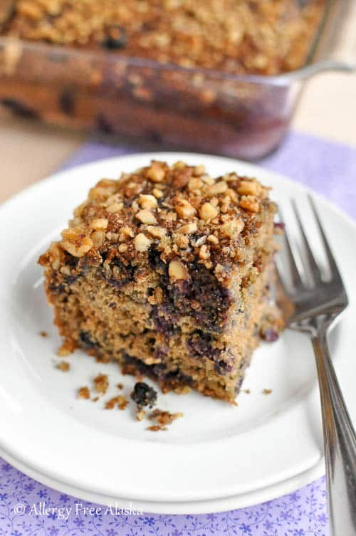 Gluten Free Blueberry Coffee Cake Recipe - Allergy Free Alaska