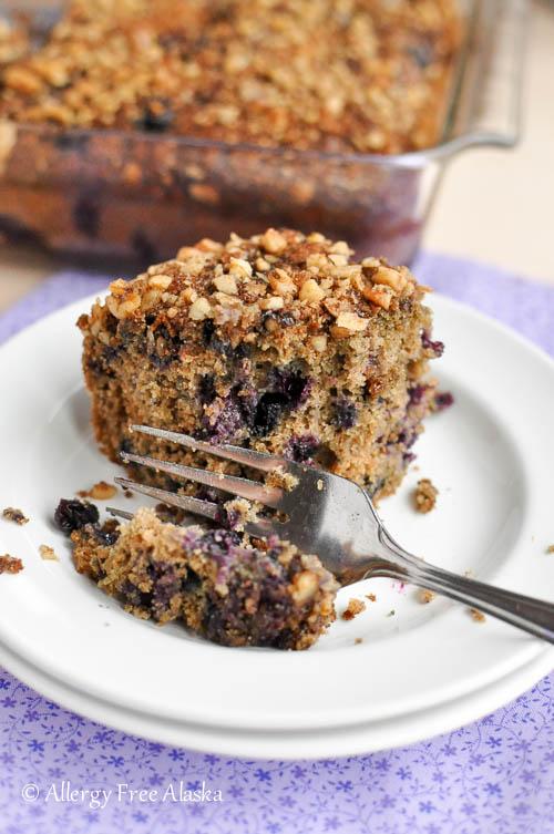 Gluten Free Blueberry Coffee Cake from Allergy Free Alaska