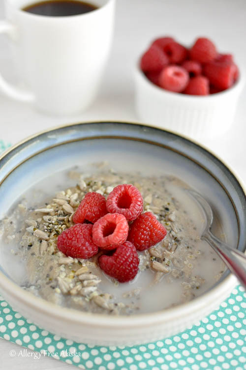 Grain-Free Nut-Free Hot Breakfast Cereal Recipe- Allergy Free Alaska