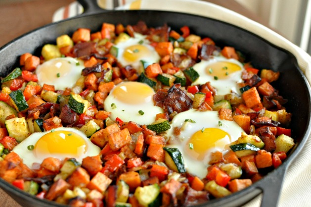 Sweet Potato Breakfast Skillet with Bacon