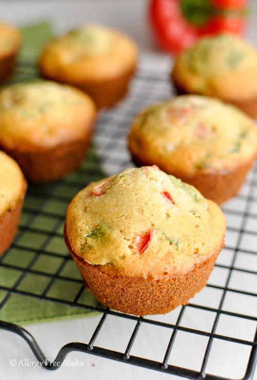 Gluten-Free Breakfast Muffins w:Ham & Veggies - Allergy Free Alaska