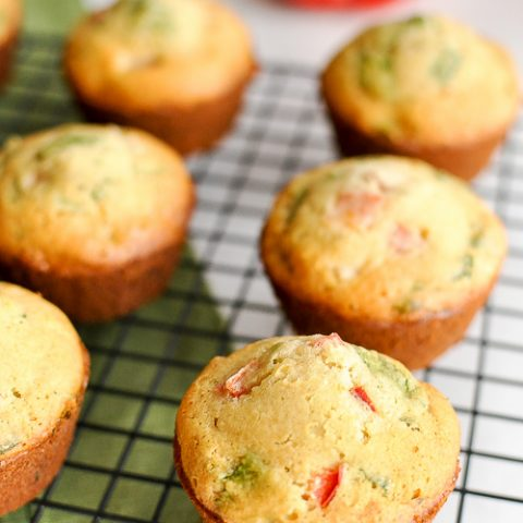 Gluten-Free Breakfast Muffins with Ham & Veggies