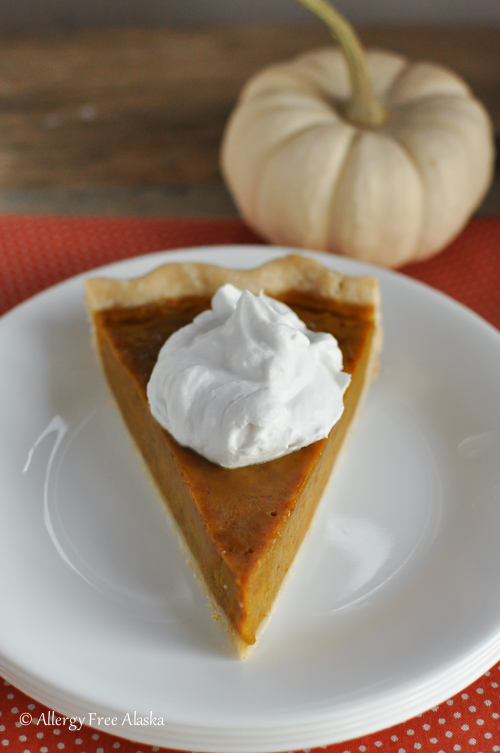 Gluten-Free Dairy-Free Maple Pumpkin Pie - Allergy Free Alaska