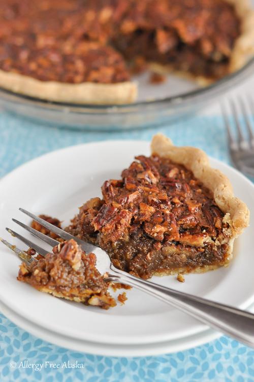 Gluten Free Pecan Pie - Corn Syrup Free, Refined Sugar Free | Allergy Free Alaska