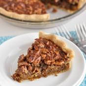 Gluten-Free Pecan Pie (Corn Syrup Free, Refined Sugar Free)