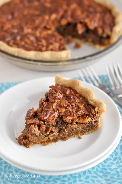 Gluten Free Pecan Pie (Corn Syrup Free, Refined Sugar Free)-Allergy Free Alaska