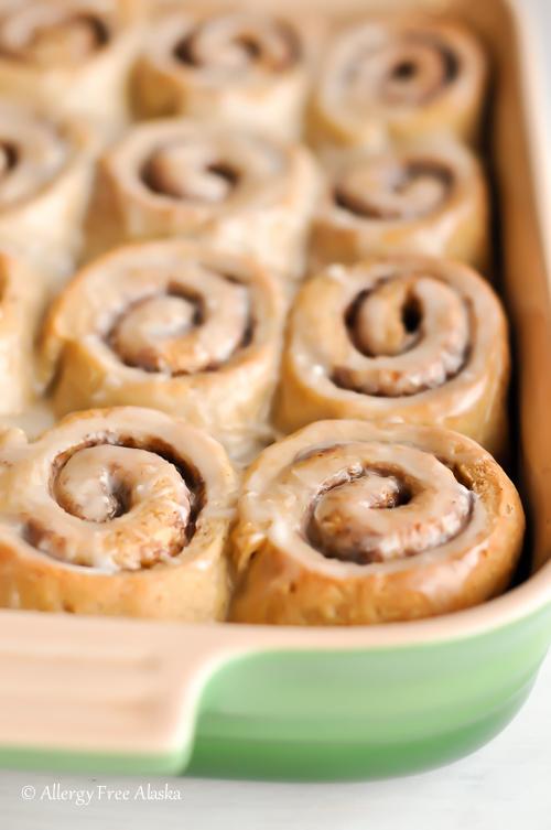 GlutenFree DairyFree Cinnamon Rolls Recipe from Allergy Free Alaska