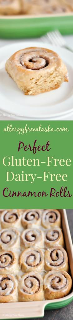 Perfect Gluten-Free Dairy-Free Cinnamon Rolls from AllergyFreeAlaska