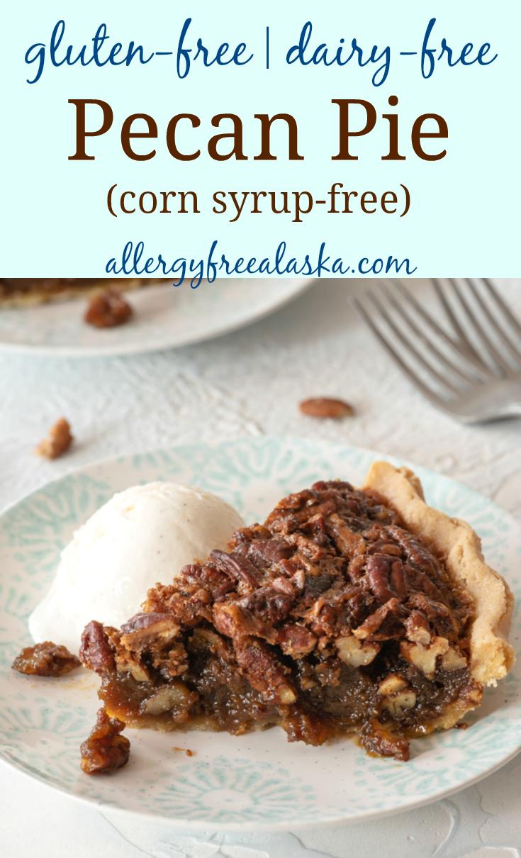 gluten-free pecan pie recipe collage