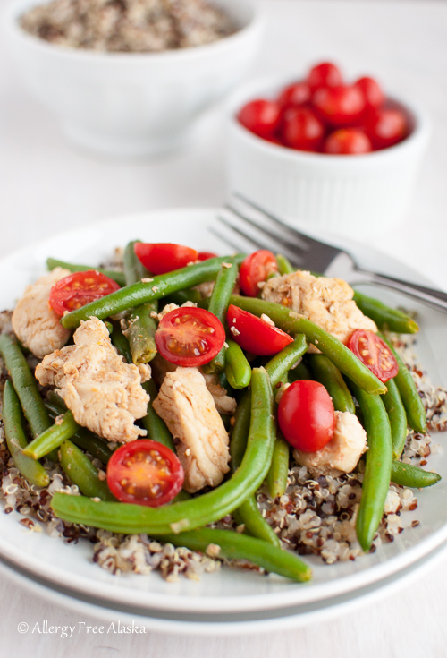 Allergy Free Alaska - Smokey Chicken and Green Beans Over Quinoa Recipe