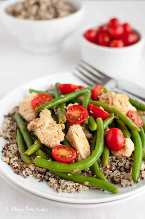 Smokey Chicken and Green Beans Over Quinoa - Allergy Free Alaska