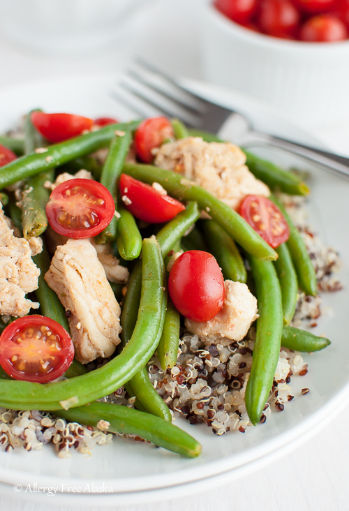 Smokey Chicken and Green Beans Over Quinoa Recipe - Allergy Free Alaska