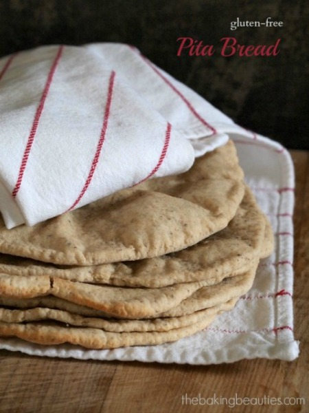 Gluten-Free Pita Bread from The Baking Beauties