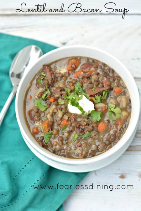 Hearty Lentil Soup with Bacon