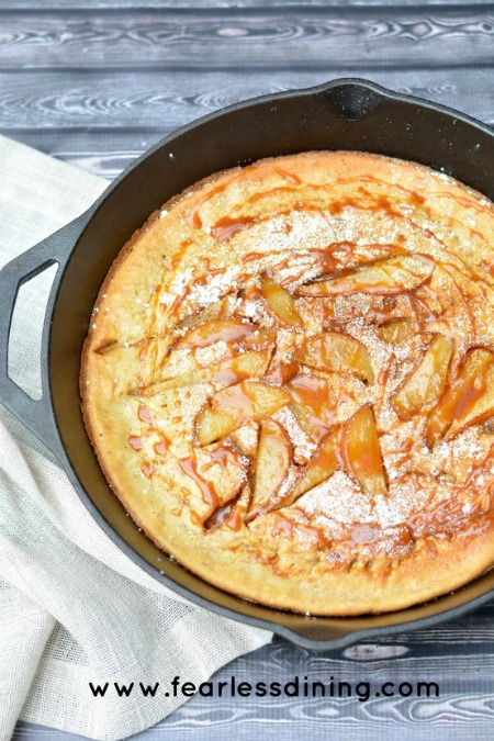 Pear and Caramel Dutch-Baby