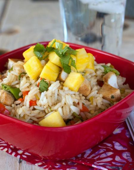 Pineapple Chicken Rice Bowls