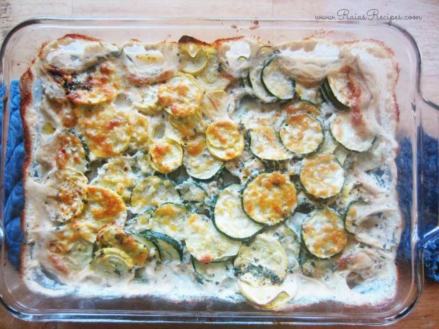 Scalloped Zucchini & Crooked Neck Squash from Raia's Recipes