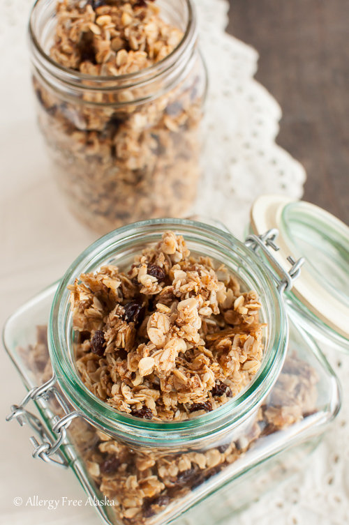 Chai Spiced Honey Granola with Coconut Oil