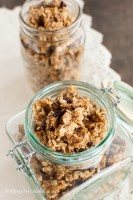 Chai Spiced Honey Granola with Coconut Oil